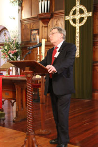 David Fallick extends a welcome at the ordination service, Armadale Uniting Church 30 May 2010